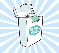 Correct way to floss around a dental implant #tuesdaytip